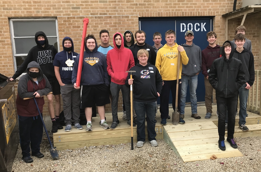 Mr.Alstons Construction Class built a new loading dock for cafeteria.